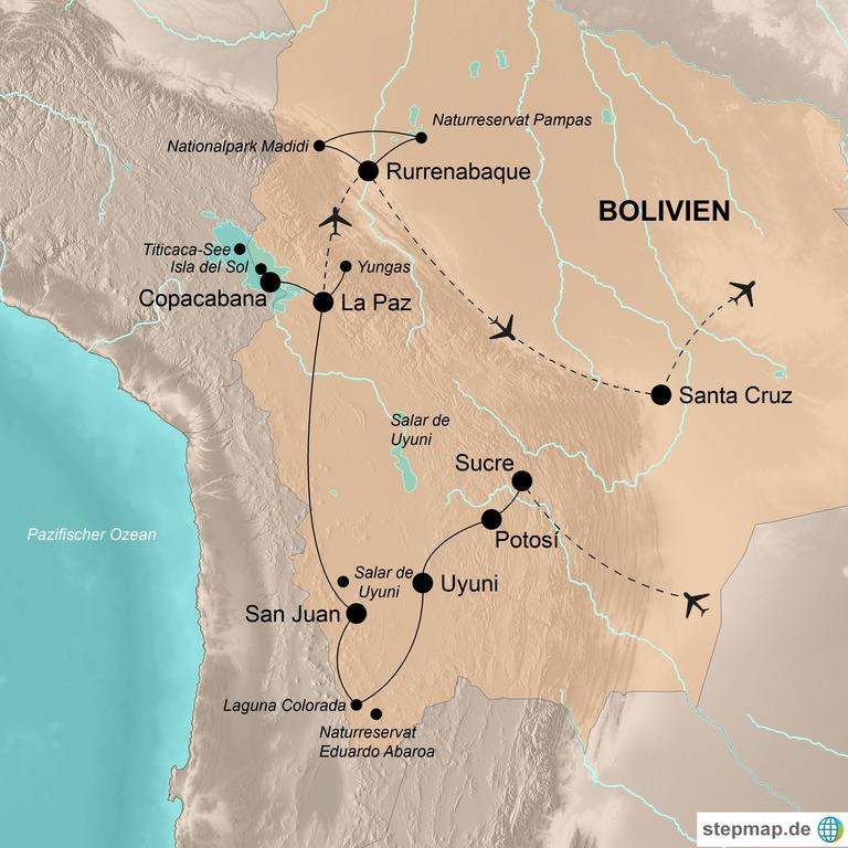 Bolivien – Vielfältiges Andenland