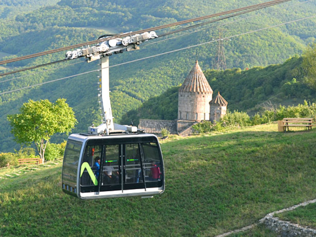 Seilbahn zum Kloster Tatev