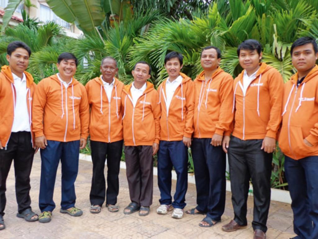 Unser Team in Kambodscha.
