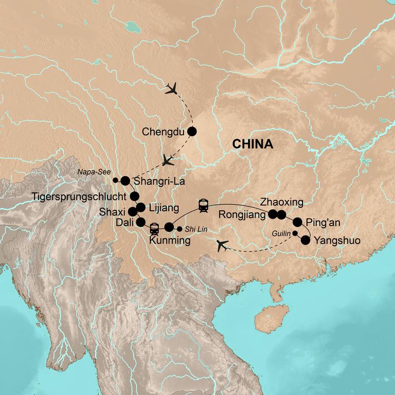 Chinas Südwesten: Yunnan und Guangxi – Atemberaubende Natur, kulturelle Vielfalt