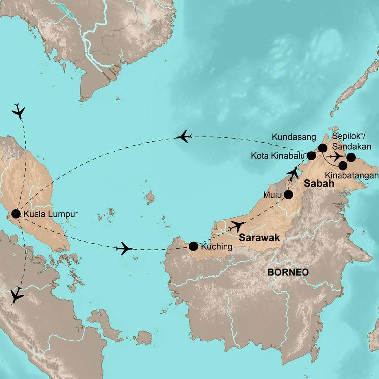 Malaysia Comfort+ – Borneo mit Genuss