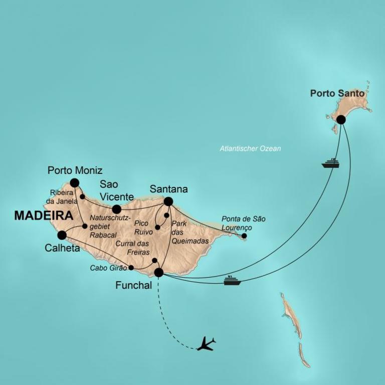 Portugal: Madeira mit Porto Santo – Blumeninsel im Atlantik