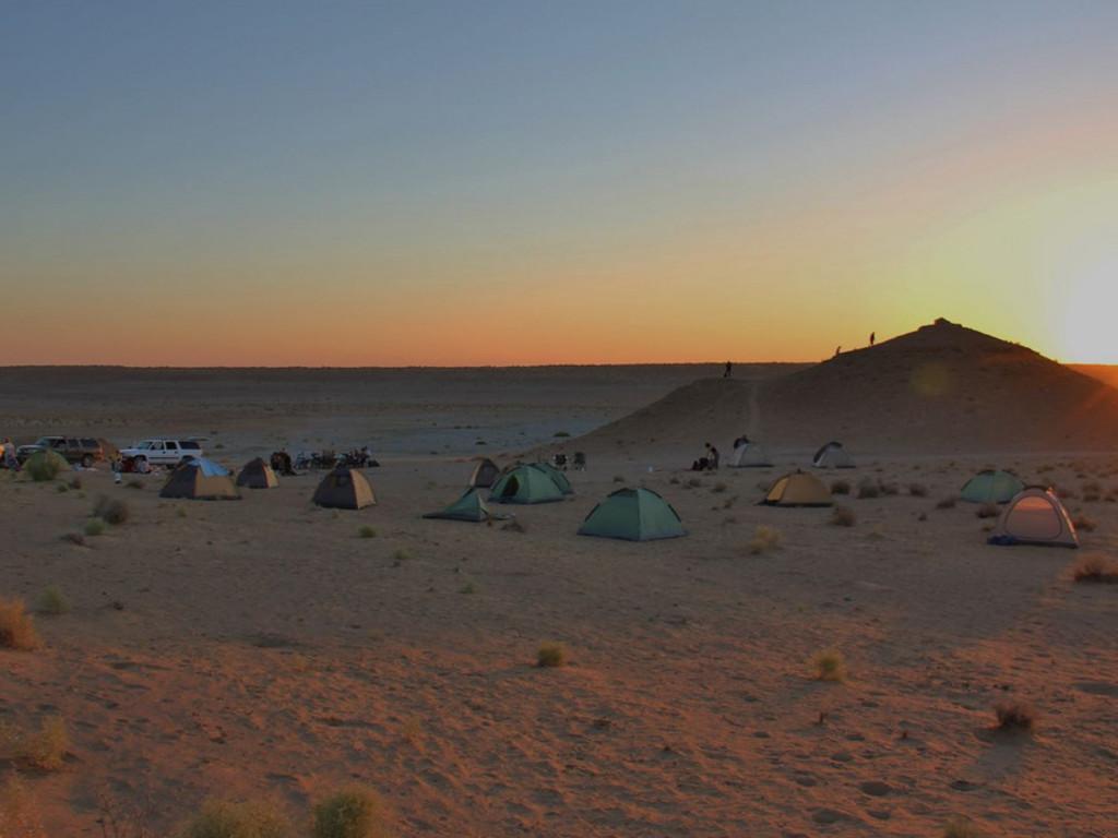 Zelte in Darwaza