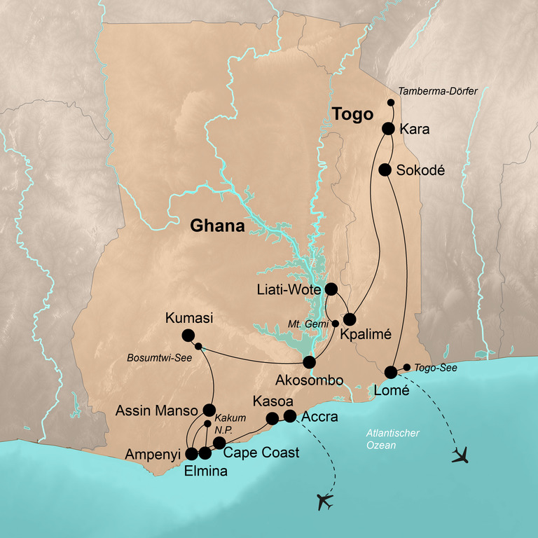 Ghana und Togo – Abenteuer an der Goldküste