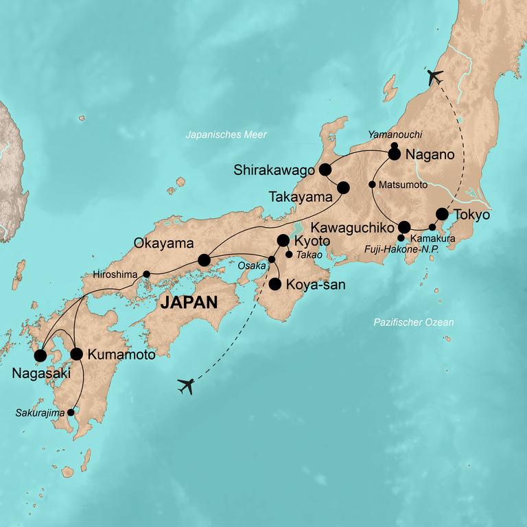 Japan – Im Land der aufgehenden Sonne