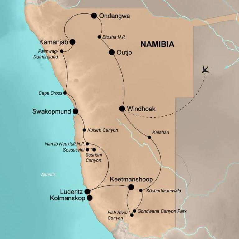 Namibia  – Die umfassende Reise