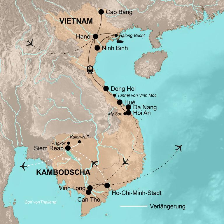 Vietnam  – Indochina aktiv entdecken
