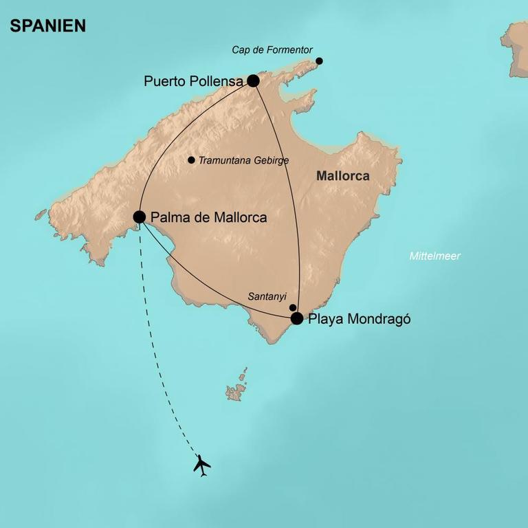 Spanien: Mallorca – Vom Tramuntana Gebirge bis zur Ostküste