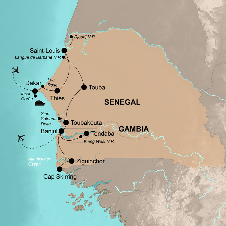 Senegal und Gambia – Der ganze Zauber Westafrikas