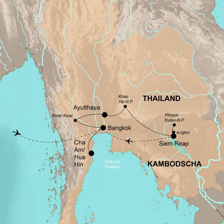Thailand und Kambodscha – Tiere, Tempel, tolle Strände