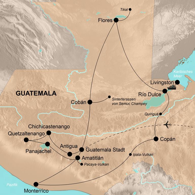 Guatemala – Mayas, Dschungel und Vulkane
