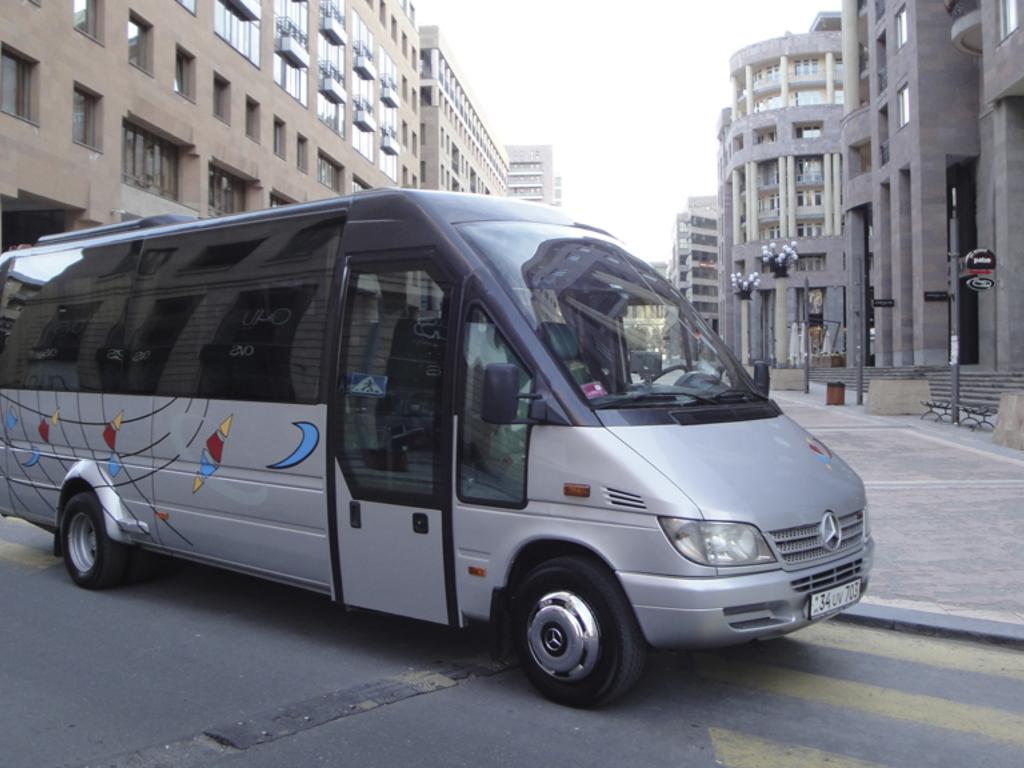 Beispiel für einen Minibus in Armenien