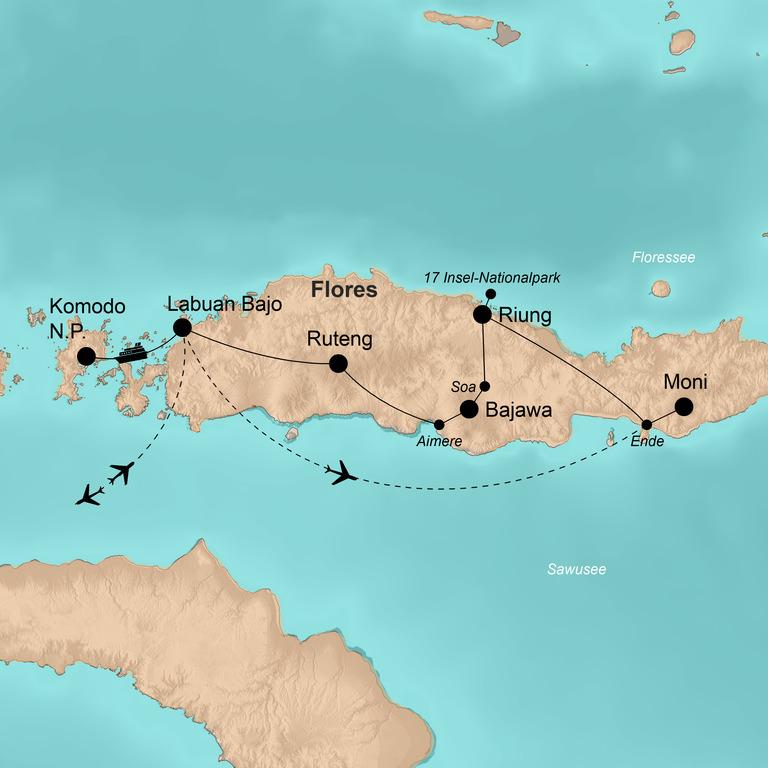 Indonesien: Flores, Komodo, Bali und Lombok – Insel-Hopping mit Bootstour im Komodo-Nationalpark