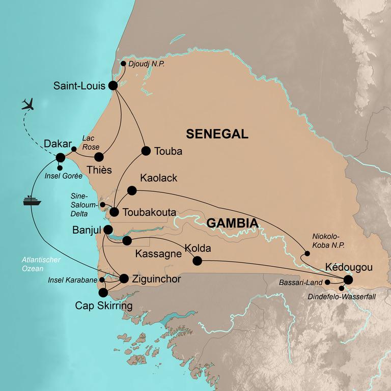 Senegal und Gambia  – Auf Entdeckungstour in Senegambia