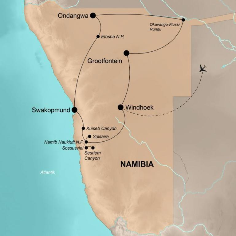 Namibia  – Tiere, Wüste, Lagerfeuer