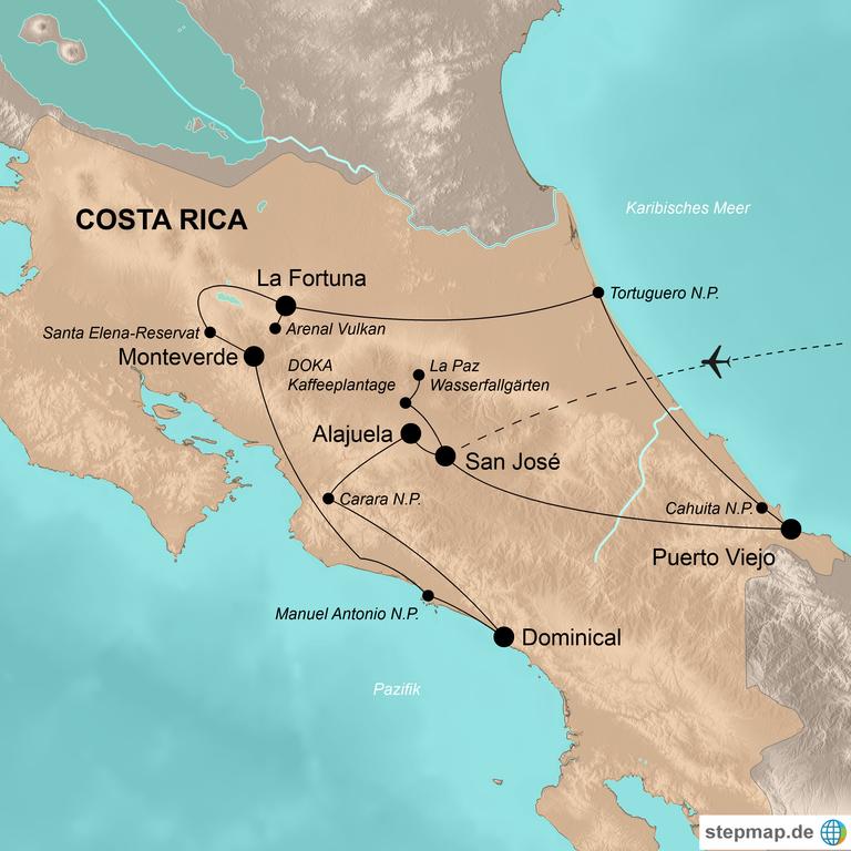 Costa Rica  – Entdeckungen im Tropenparadies