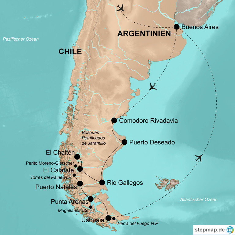 Argentinien und Chile  – Highlights und Geheimtipps Patagoniens