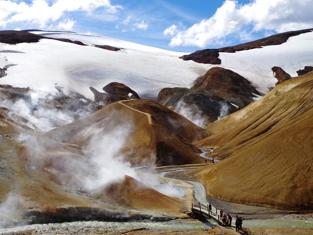 Kerlingarfjöll – Hveradalir – Varmahlid: Wanderung durch das Gebirgsmassiv Kerlingarfjöll und das Geothermalgebiet Hveradalir