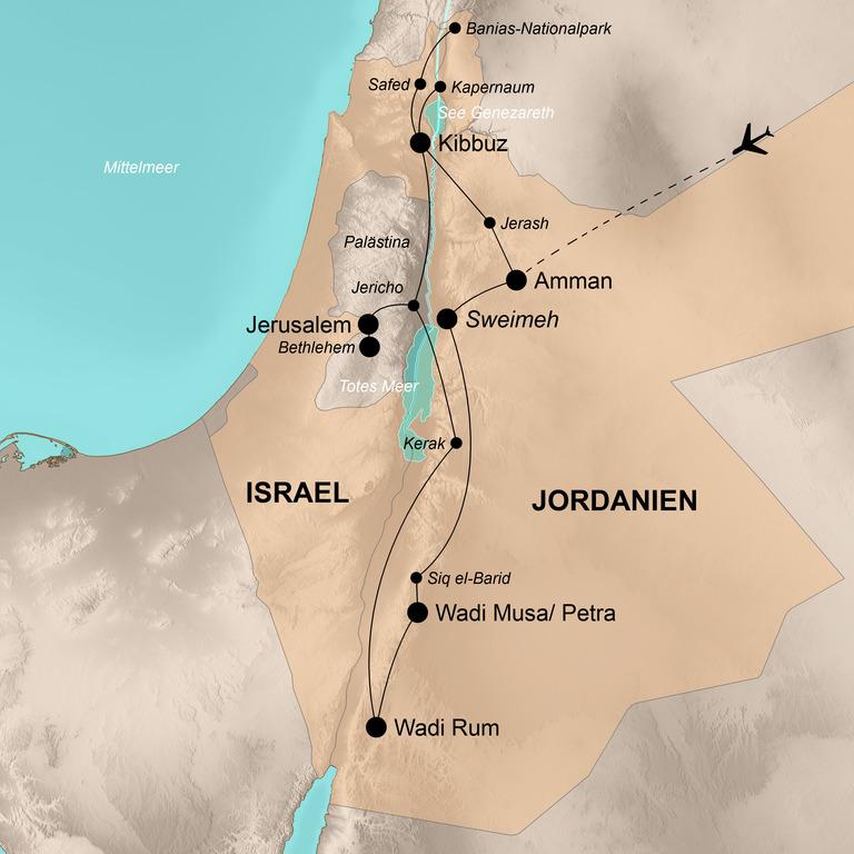Israel und Jordanien  – Von Galiläa bis zum Wadi Rum