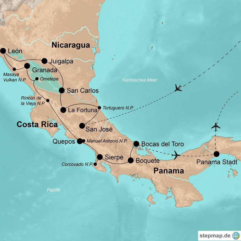 Costa Rica, Nicaragua und Panama – Papageien, Playa, koloniale Städte