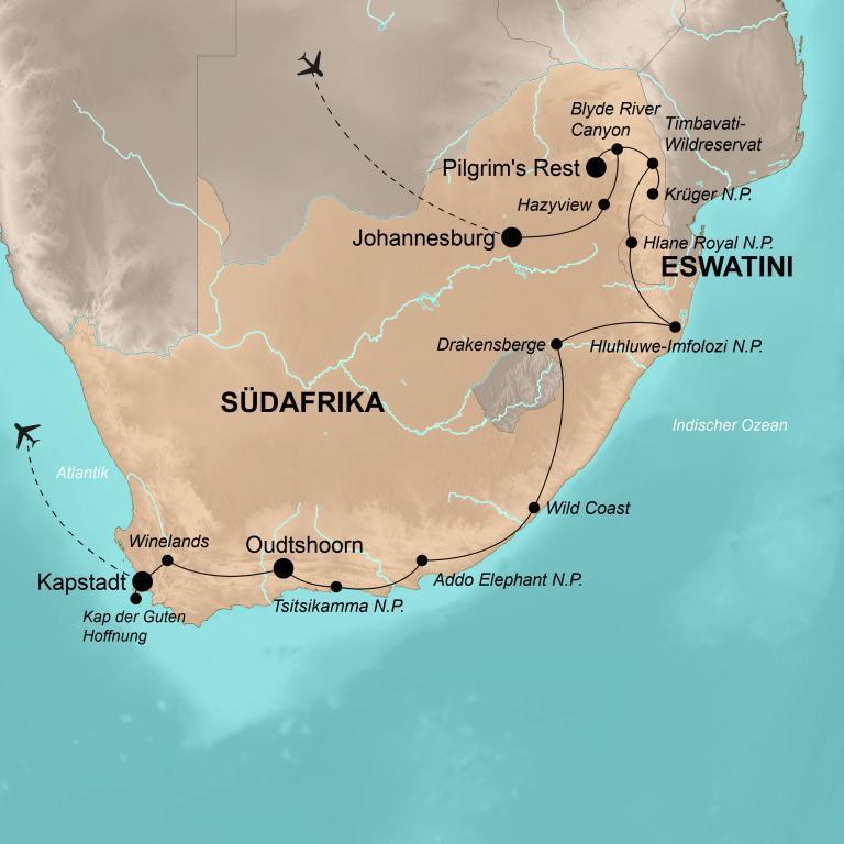 Südafrika mit eSwatini – Die umfassende Reise