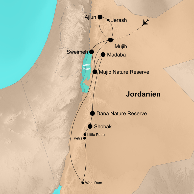 Jordanien  – Der Natur ganz nah