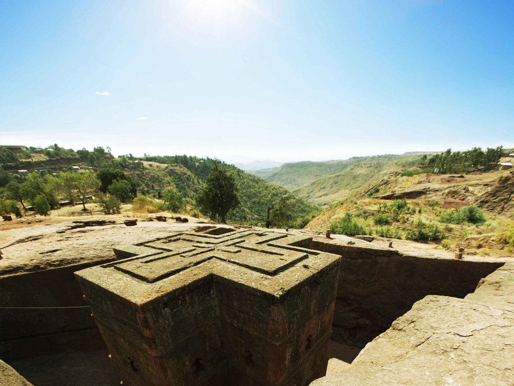Lalibela : Besichtigung der Felsenkirchen, traditionelle Kaffeezeremonie
