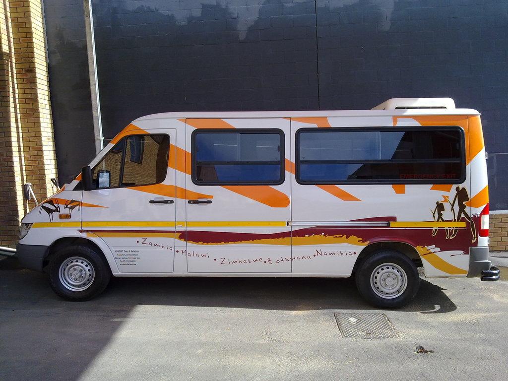 Einer unserer Mercedes Sprinter im südlichen Afrika