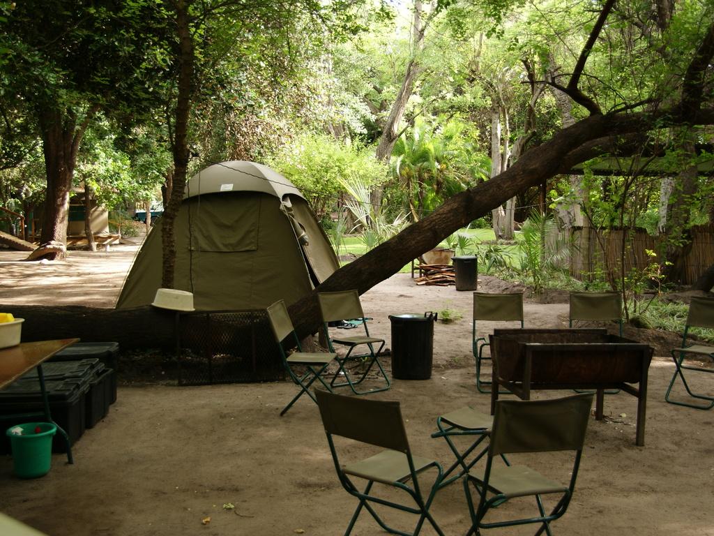 Zeltübernachtung in Botswana