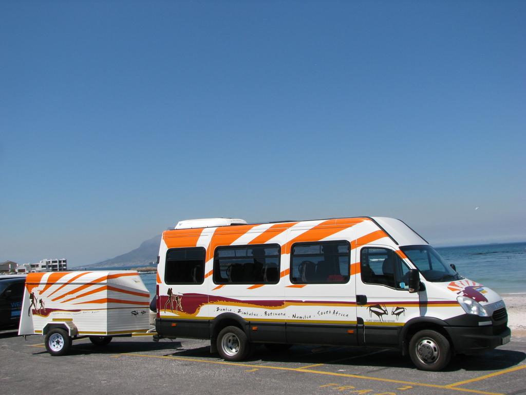 Einer unserer IVECO-Kleinbusse in Südafrika