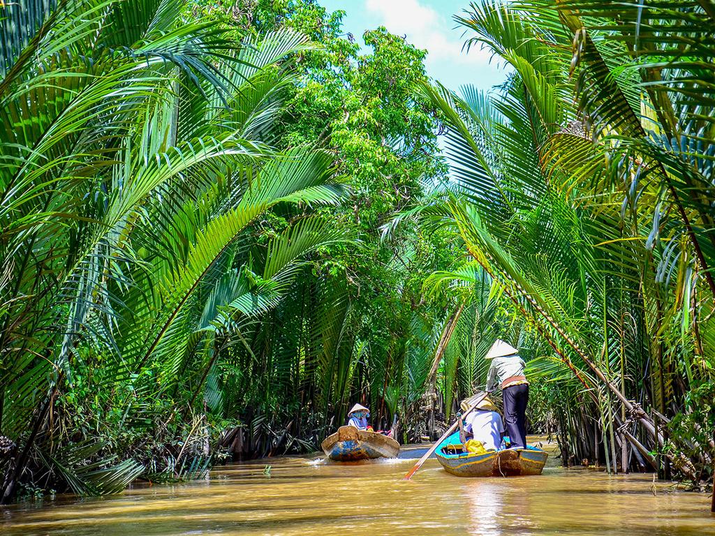 Chau Doc – Can Tho: Mekong-Delta mit dem Boot mit Besuch einer Nudelfabrik und eines Obstgartens