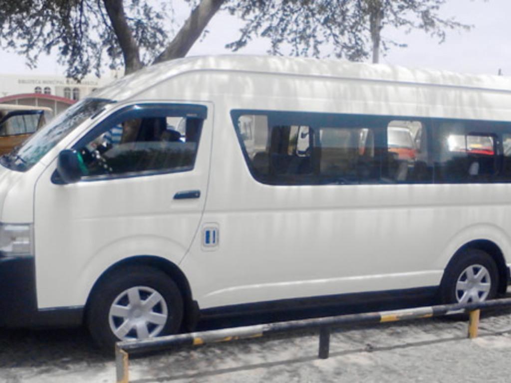 Einer unserer Kleinbusse auf den Kapverdischen Inseln