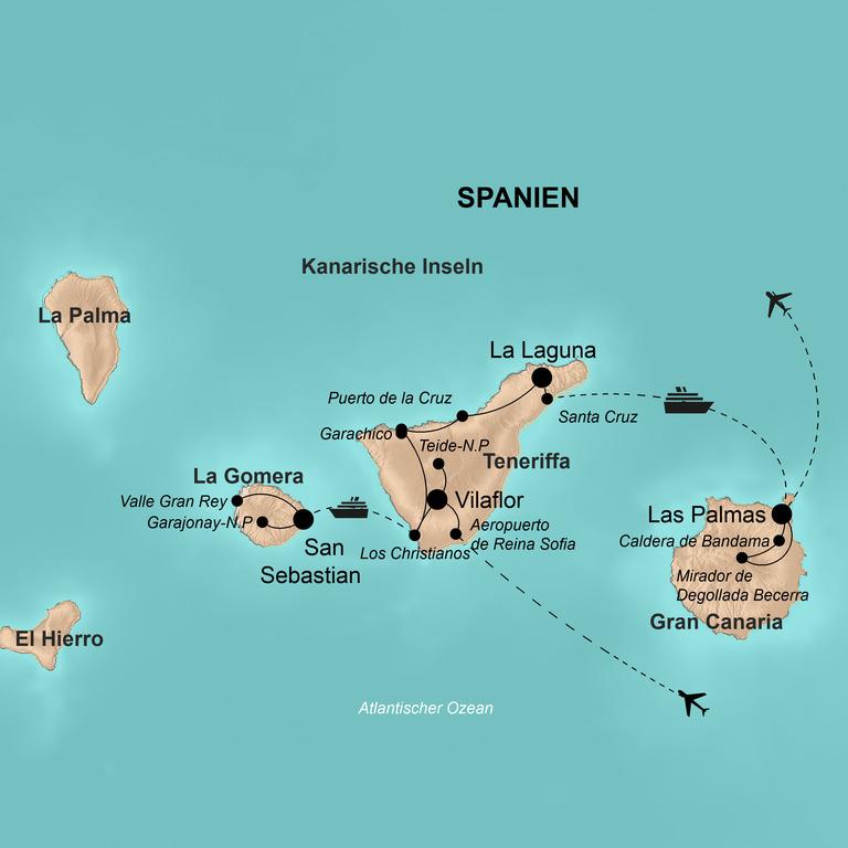 Spanien: Teneriffa, Gomera, Gran Canaria – Inseln des ewigen Frühlings