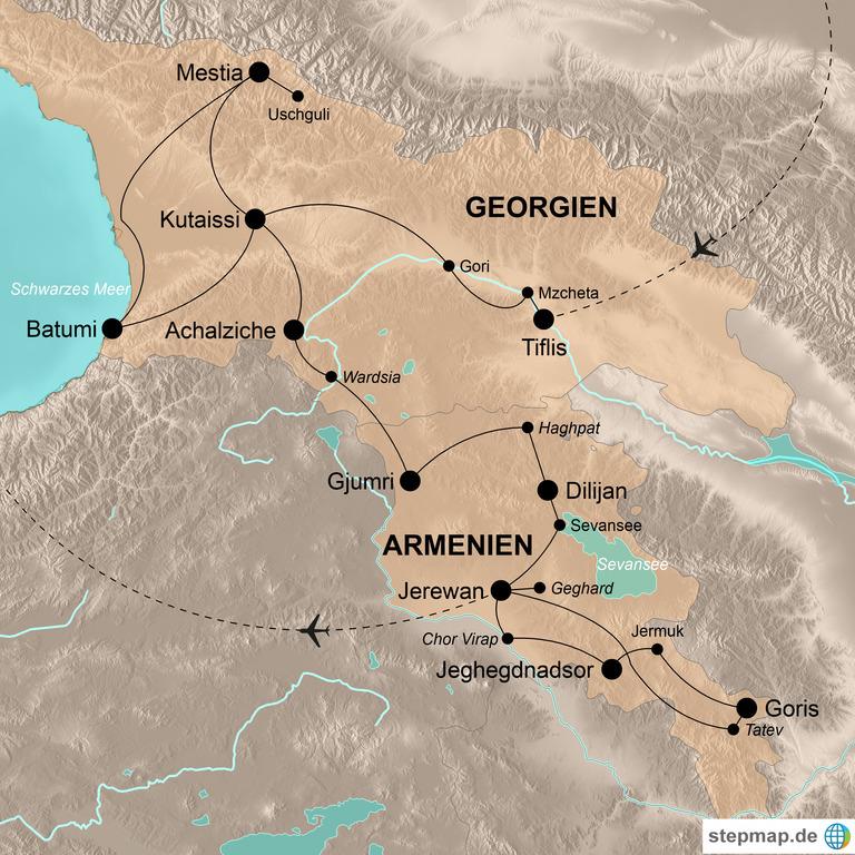 Georgien und Armenien – Von den Gipfeln des Kaukasus zum Schwarzen Meer