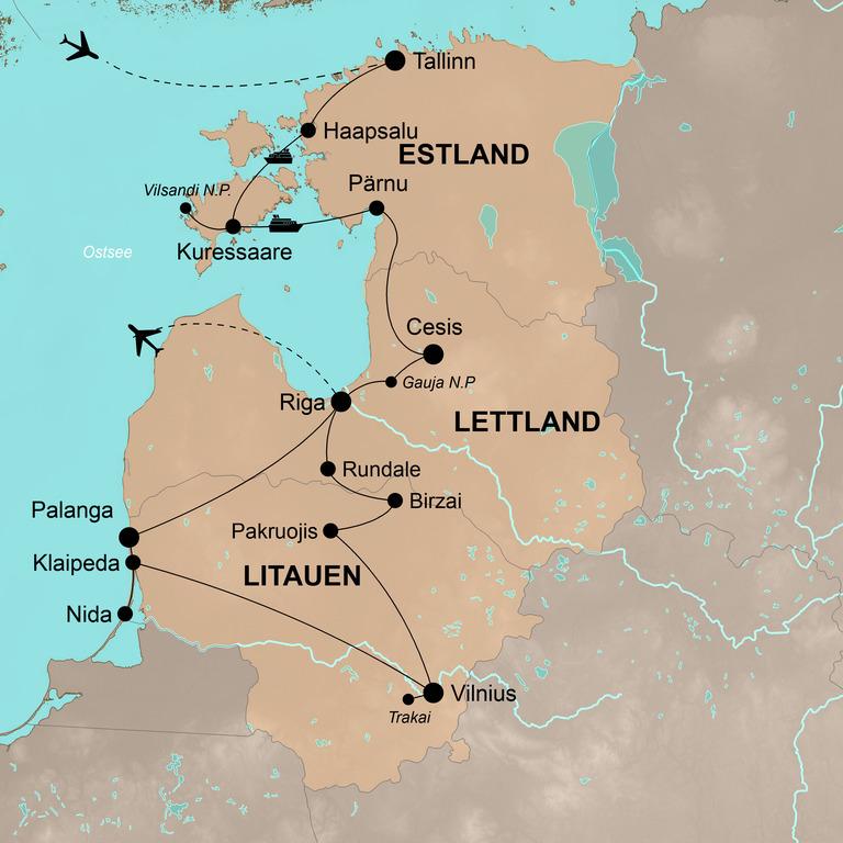 Estland-Lettland-Litauen – Malerisches Baltikum