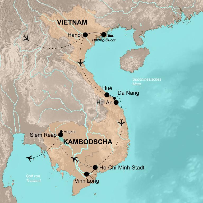 Vietnam und Kambodscha – Höhepunkte Südostasiens