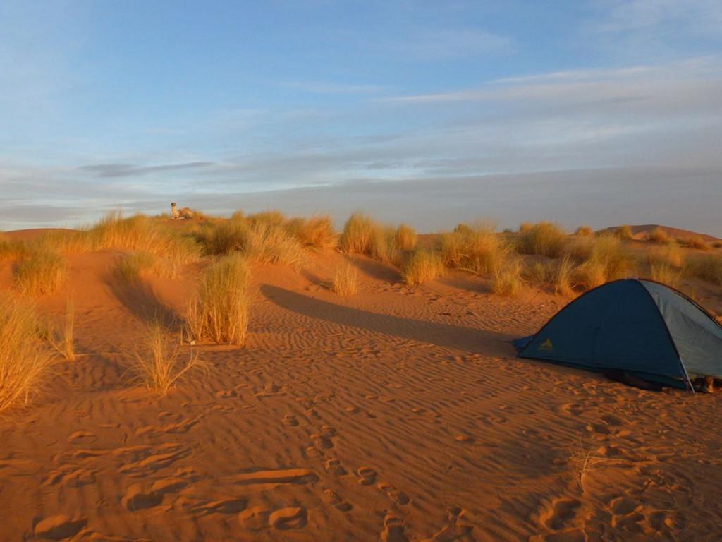 Zeltübernachtung in der Wüste