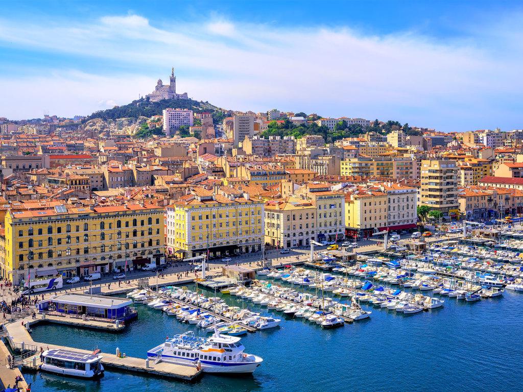Marseille: Stadtbesichtigung Marseille u.a. mit Basilika Notre Dame de la Garde, nachmittags Freizeit