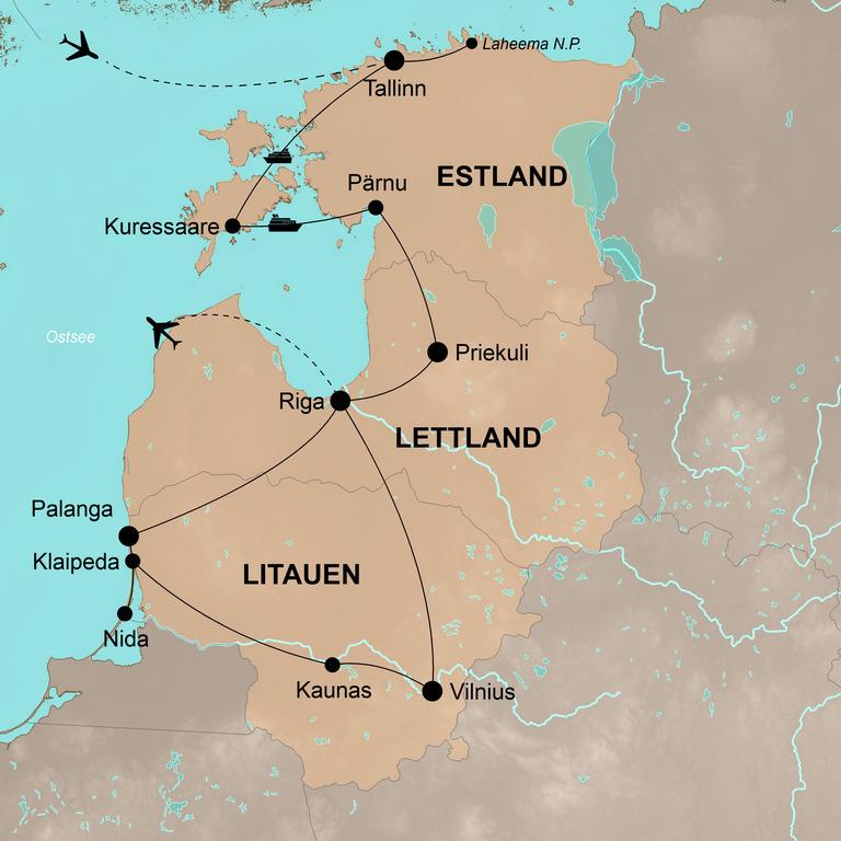 Estland, Lettland und Litauen – Action und Spaß am baltischen Meer