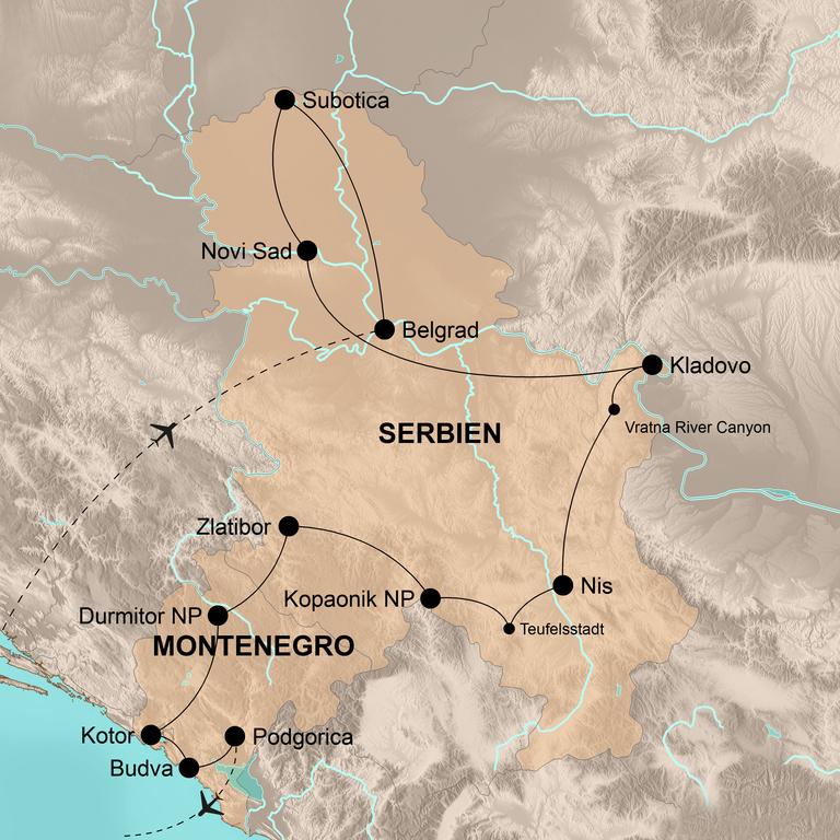 Serbien und Montenegro – Naturparadies im Herzen des Balkans