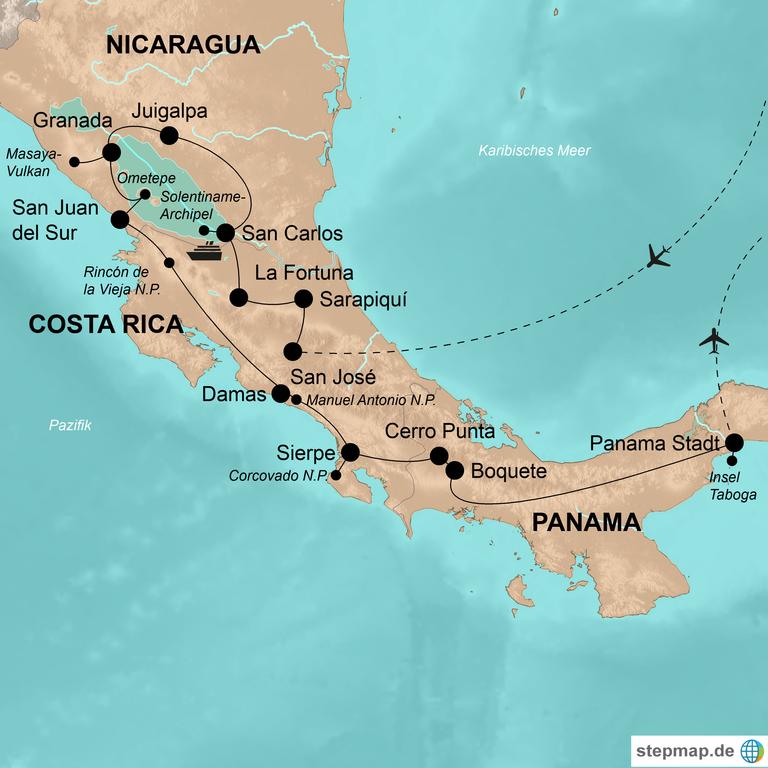 Costa Rica, Nicaragua und Panama – Wandern zwischen Vulkanen und Wildnis