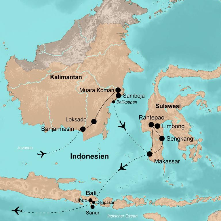 Indonesien: Kalimantan, Sulawesi und Bali – Indonesien Explorer