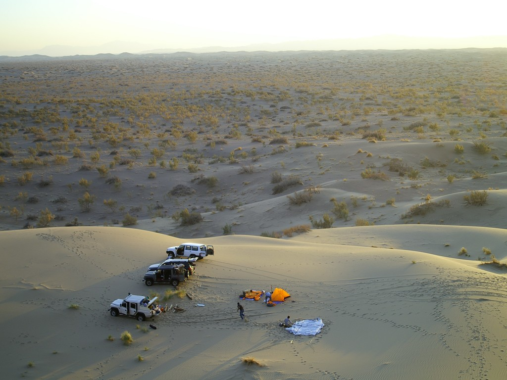 Zelt in der Wüste Lut  in Wüste Lut
