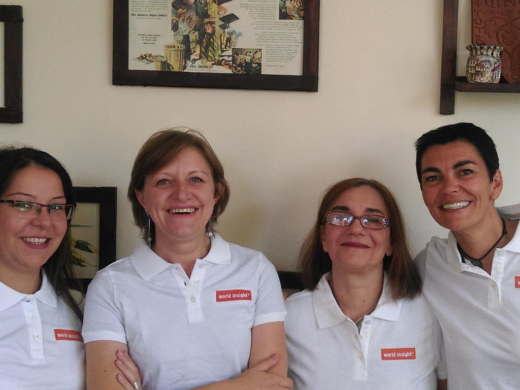 von links nach rechts: Vida Kuzmanovska, Marjana Gjorgjioska, Emilija Nichevska und Emilija Fildishevska