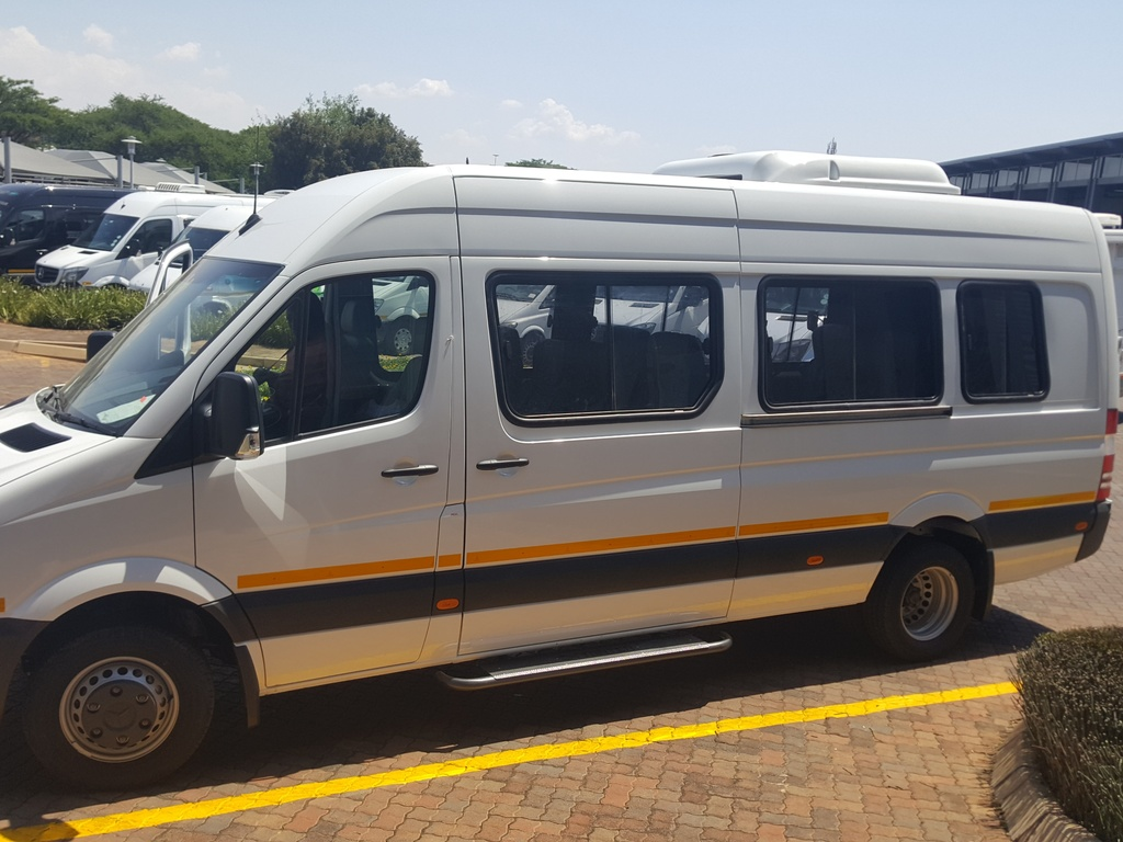 Einer unserer Kleinbusse in Südafrika