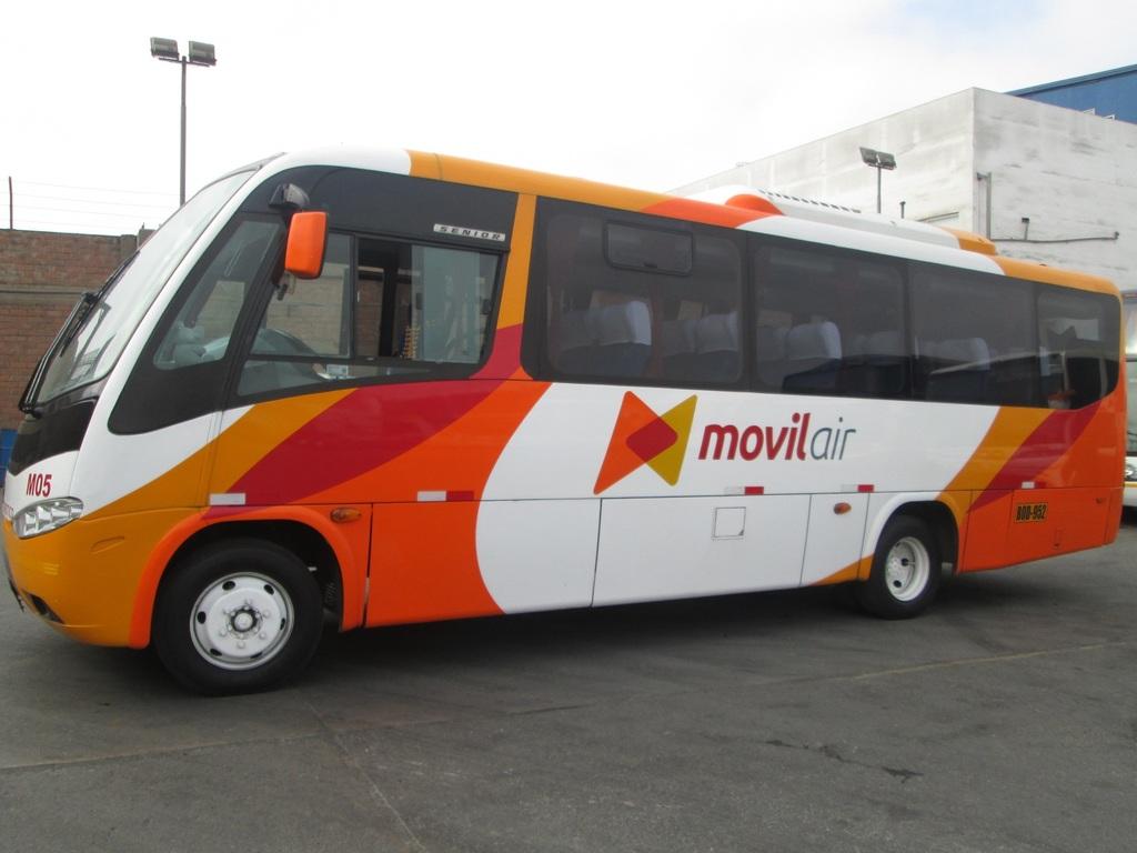 Einer unserer Minibusse in Peru.
