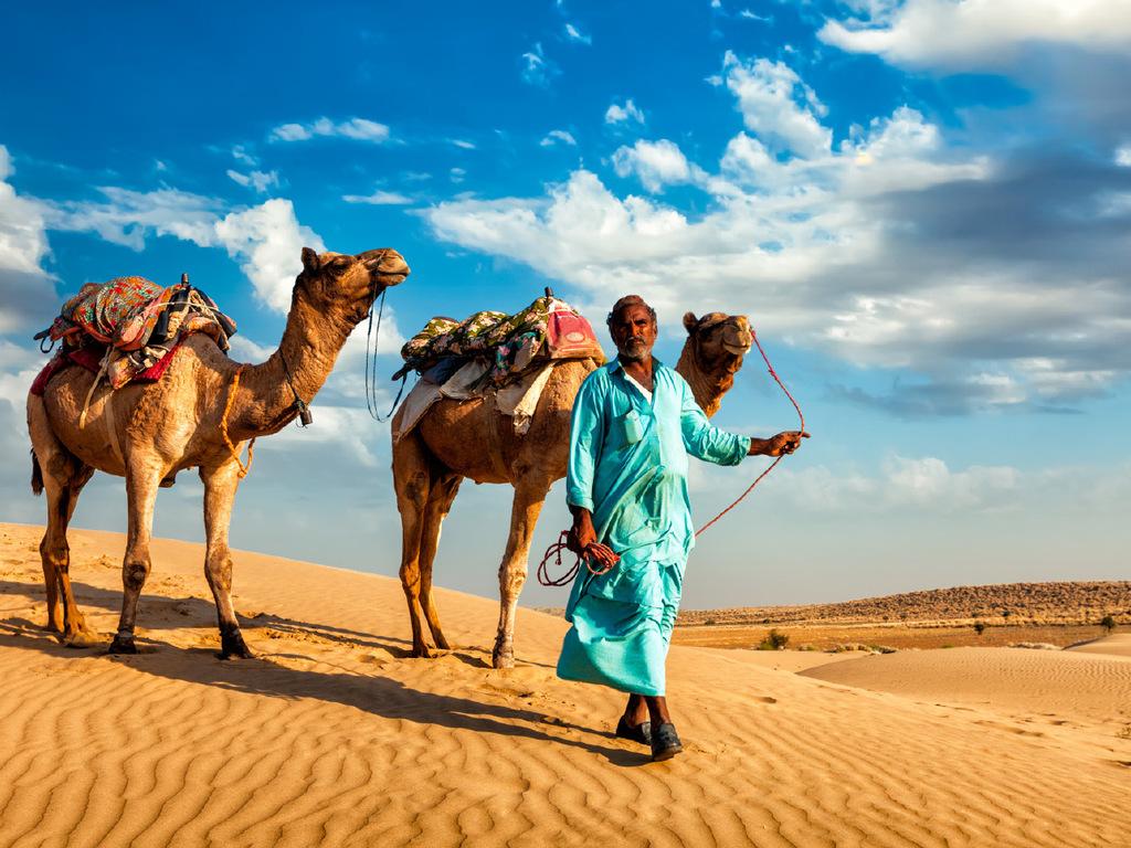 Weiter in die Wüste: Junagarh Fort, Kamelritt, Übernachtung im Wüstencamp