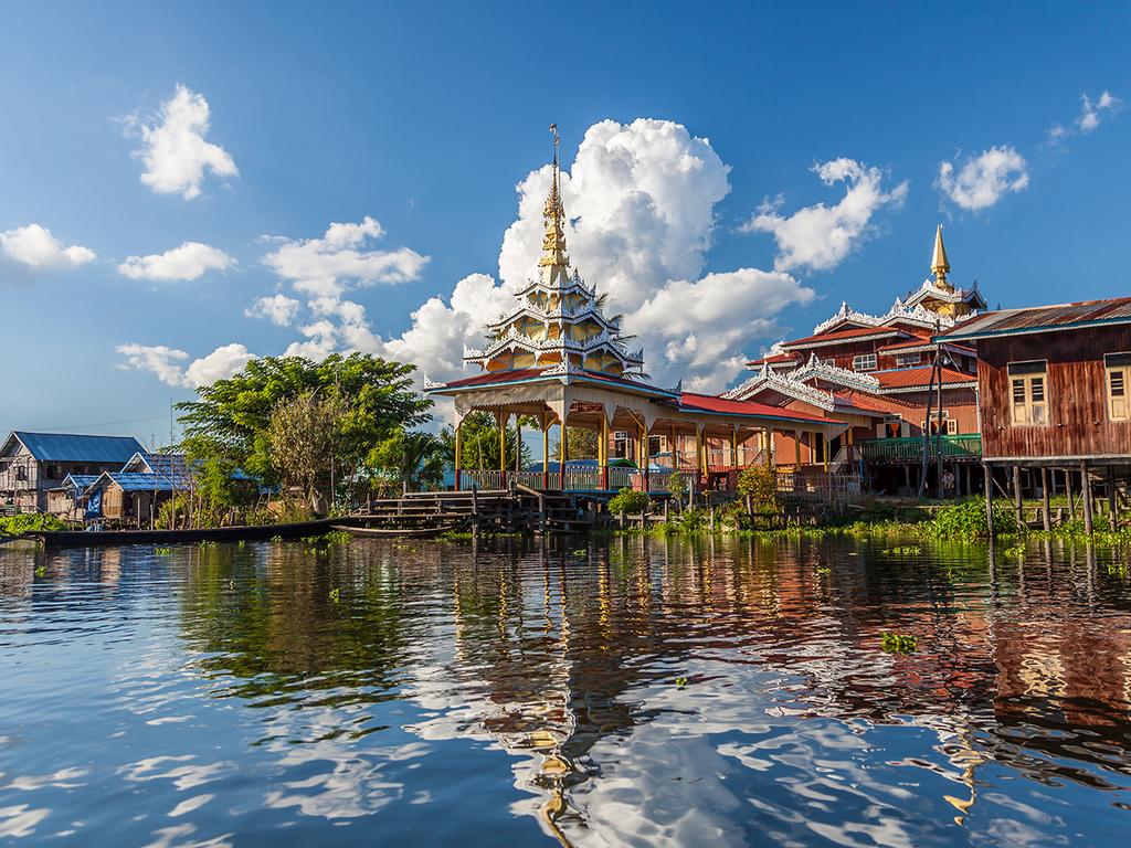 Bagan – Heho – Inle-See : Red Mountain-Weingut, Phaung Daw U-Pagode, schwimmende Gärten