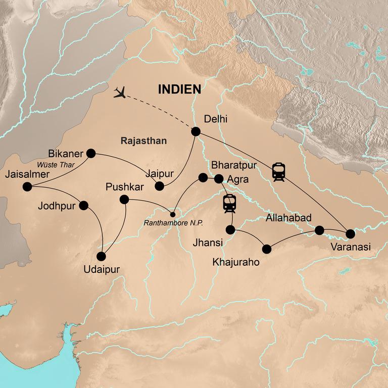 Indien: Rajasthan und der Norden mit Khajuraho und Varanasi – Wüsten, Märchen, Maharadschas