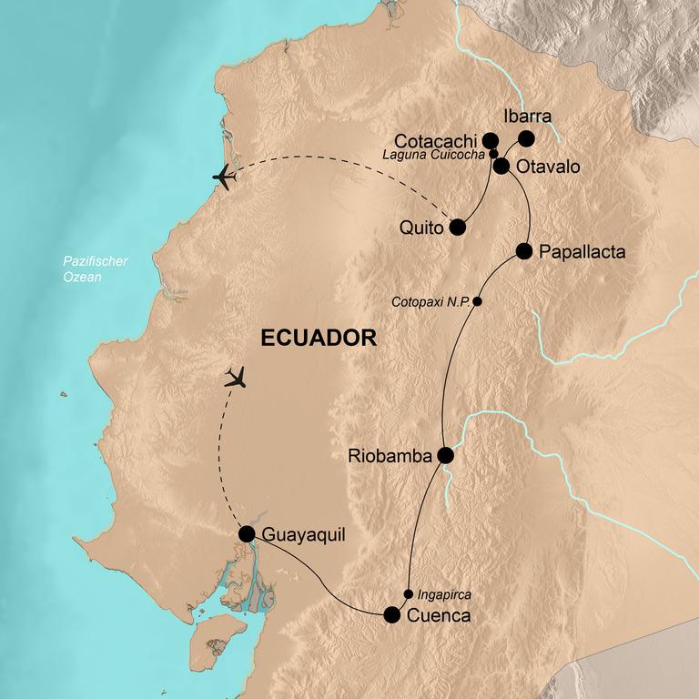 Ecuador mit Galápagos Inseln – Tierwelt,  Indígenas und koloniale Pracht